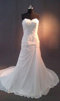 Graceful Sweetheart Chiffon A-line Full Length Wedding Dresses
