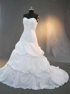 Beautiful Taffeta Sweetheart Garden Wedding Dresses