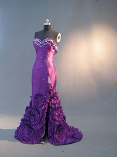 Mysterious Sweetheart Purple Sheath Wedding Guest Dresses