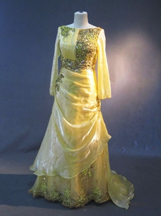 Modest Yellow Long Sleeves Mother Of The Bride Dresses