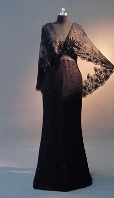 Graceful V-Neckline Black Lace Mother Of The Bride Dresses