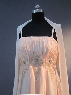 Terrific Spaghetti Straps A-line Mother of Bride Dresses With Shawl