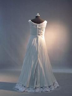 Unique Gray Chiffon Empire Maternity Prom Dresses With Lace