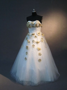 Elegant Plus Size Quinceanera Dress with Flowers