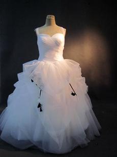 Haute Straps White Plus Size Ball Gown Wedding Dresses