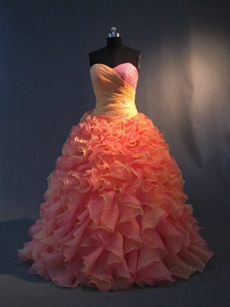 Glamorous Colorful Quinceanera Dresses 2016 with Ruffles
