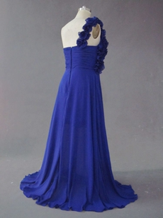 Best Royal Blue One Shoulder Plus Size Evening Dresses