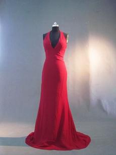 Simple Halter Formal Evening Dresses