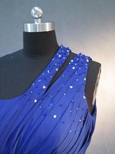 Elegant Royal Blue Maxi Graduation Dresses With Beads