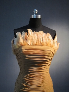 Terrific Brown Feathered Cocktail Dresses