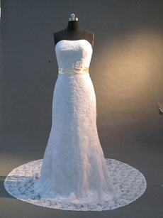 Simple Sheath Wedding Dress for Mature Brides