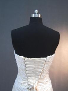 Beautiful Sweetheart Sheath Lace Wedding Gowns Lace Up Back