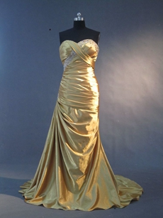 Stylish Gold Evening Dresses With Sweetheart