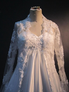 Vintage Wedding dresses for Maternity Brides With Long Sleeves
