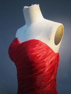 Elegan Dark Red Organza Mermaid Wedding Gowns