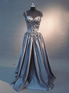 Traditional Grey Pageant Dresses For Women