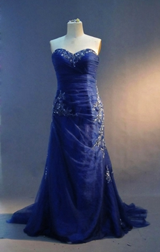 Best Royal Blue Plus Size Pageant Dresses Corset Back