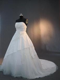 Beautiful Strapless Taffeta Wedding Dresses