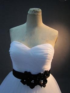 Romantic Plus Size Princess Wedding Dresses With Black Sash
