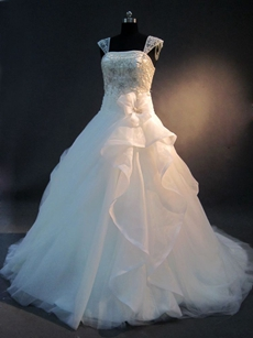 Beautiful Embroidery Ball Gown Wedding Dress 2016