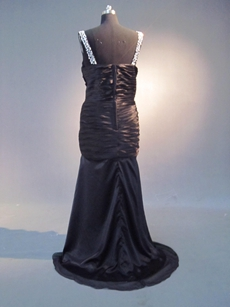 Sexy Black Plus Size Mother of Bride Dress