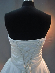 Modest White Strapless Quinceanera Dresses Cheap