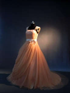 Beautiful Tulle Coral Wedding Dresses