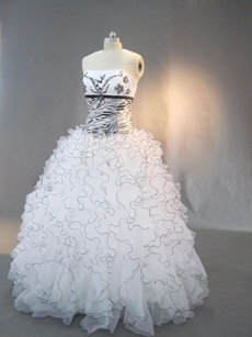 Unique Black and White Zebra Print Quinceanera Dresses