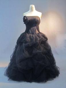 Unique Tulle Strapless Plus Size Quinceanera Dresses