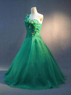 Elegant Green Plus Size Quinceanera Dresses
