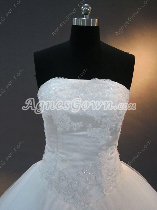 Romantic White Princess Ball Gown