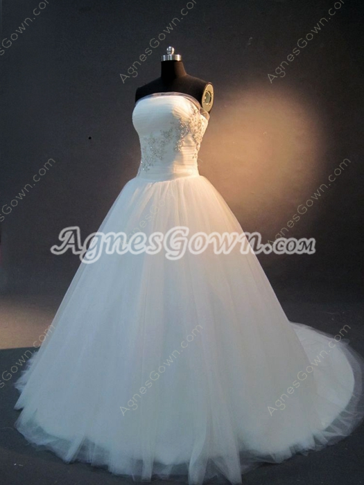 Romanitic Princess Strapless Wedding Dresses for 2016