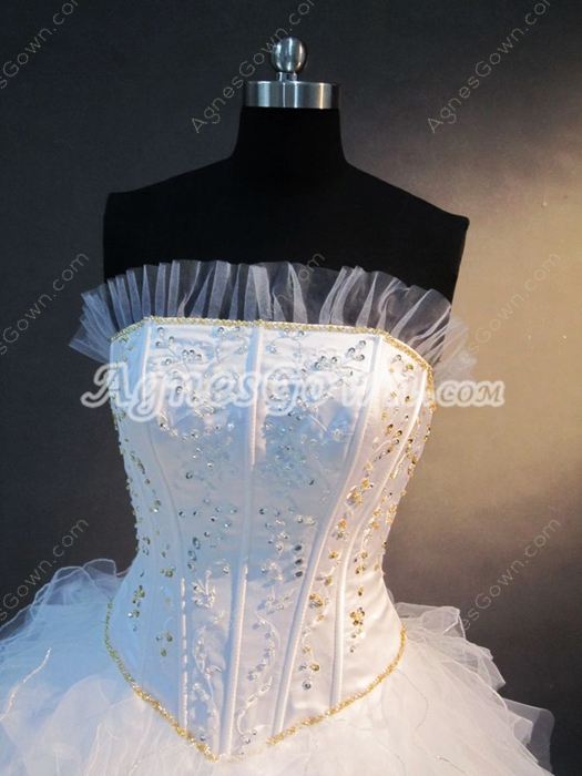 Affordalbe Strapless Princess Quinceanera Gown 2016