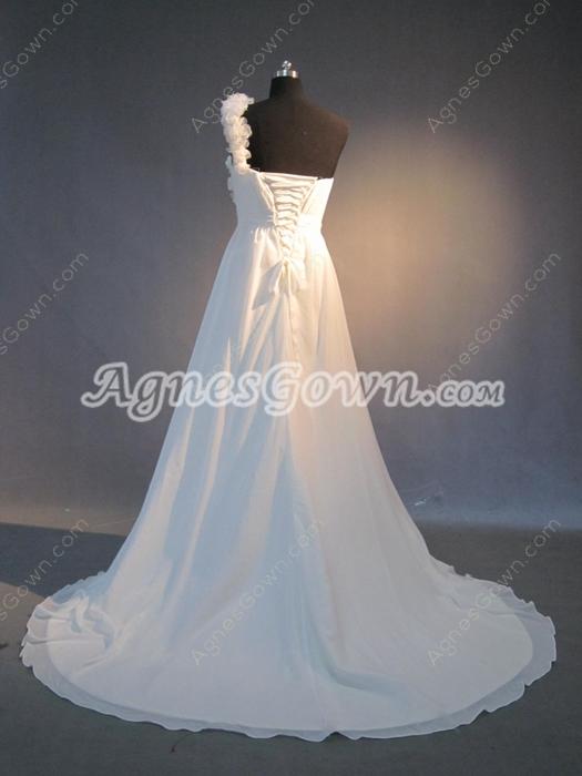 Popular Chiffon One Shoulder Destination Wedding Dresses