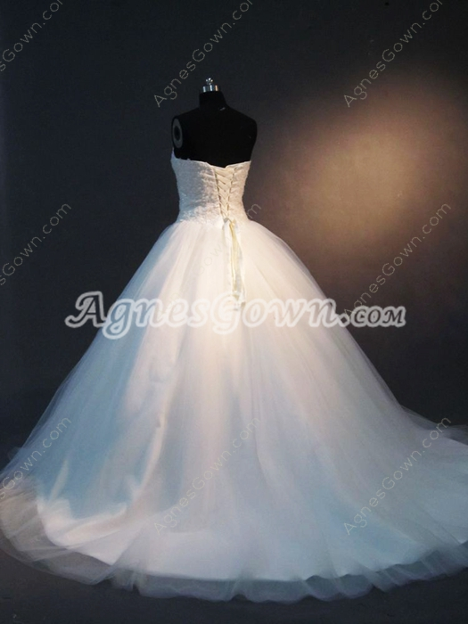 Beautiful Sweetheart Bridal Dresses with Lace Up Back