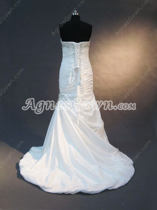 Elegance Taffeta Sweetheart Sheath Wedding Dresses