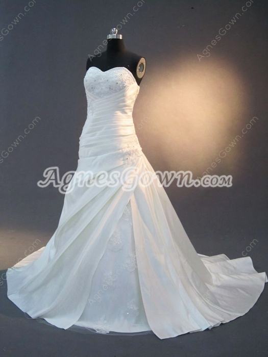 Strapless Satin Destination Wedding Dresses