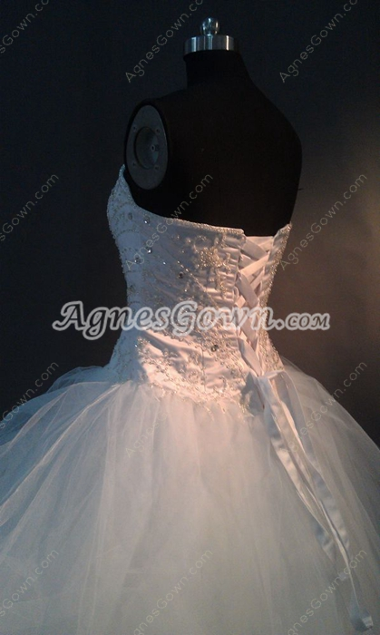 Classy Sweetheart Tulle Ball Gown Wedding Dresses