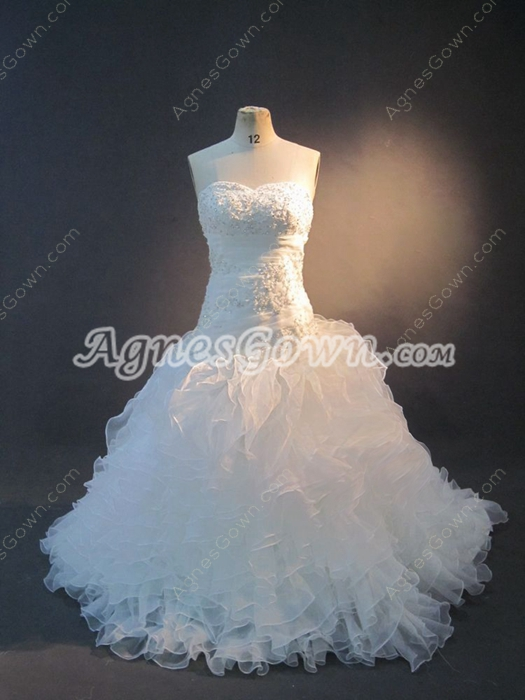 Perfect Sweetheart Ball Gown Wedding Dresses With Ruffles