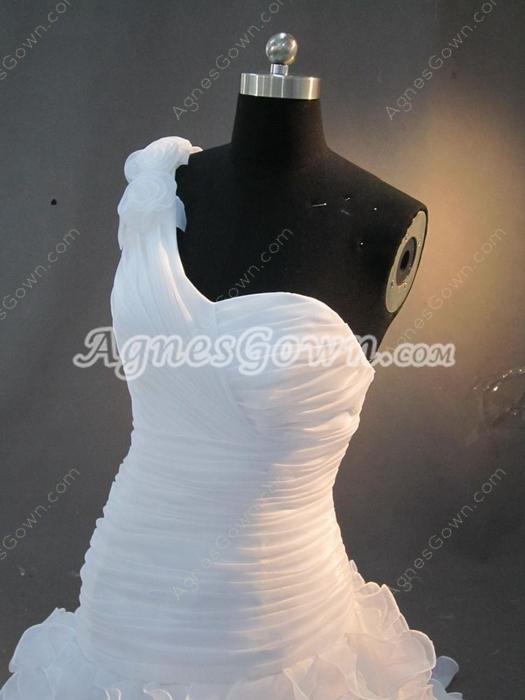 Elegance One Shoulder Ruffled 2016 Wedding Dresses