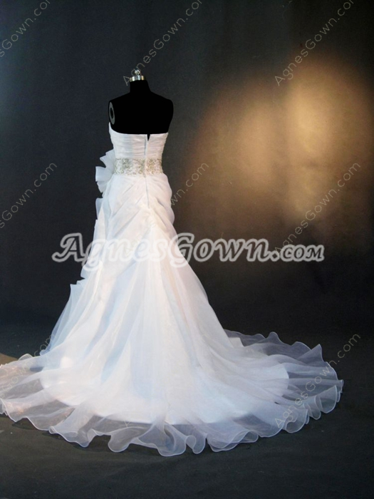 Beautiful Sweetheart Casual Outdoor Wedding Dress