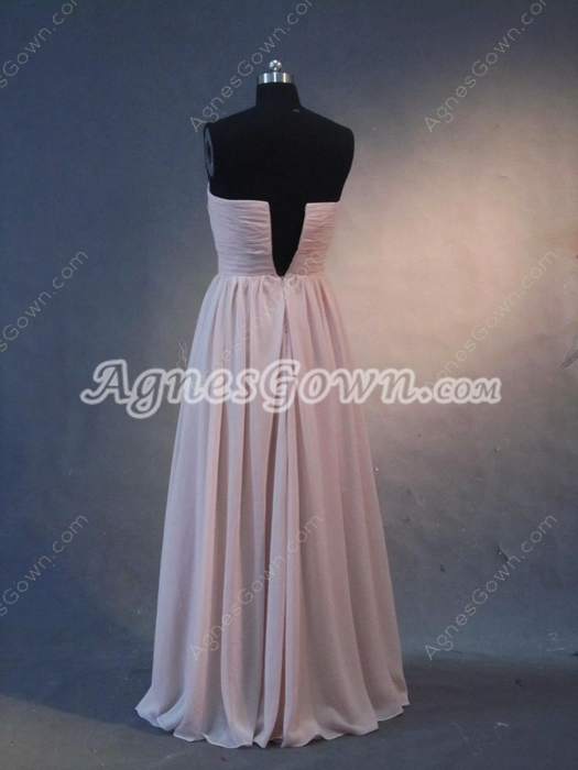 Romantic Strapless Maxi Bridesmaid Dresses
