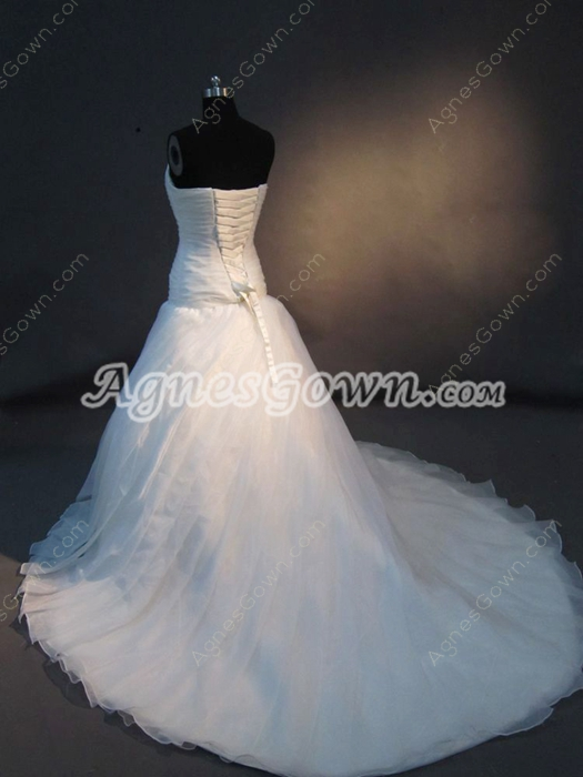 Charming Celebrity Wedding Dresses With Dropped Waist