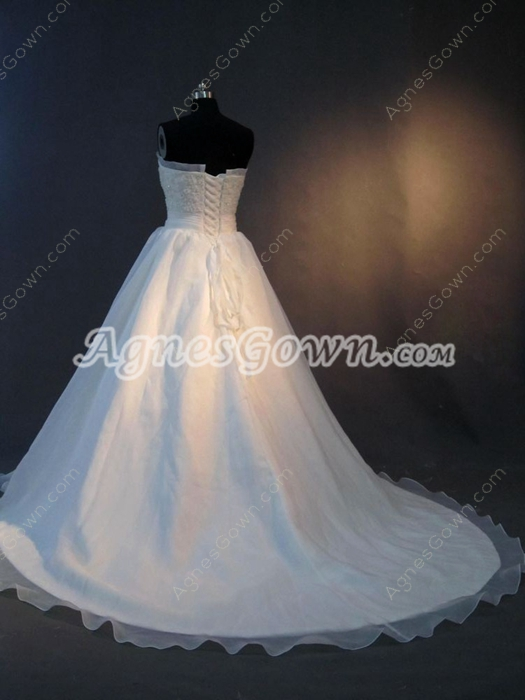 Brilliant Organza Strapless Celebrity Wedding Dresses