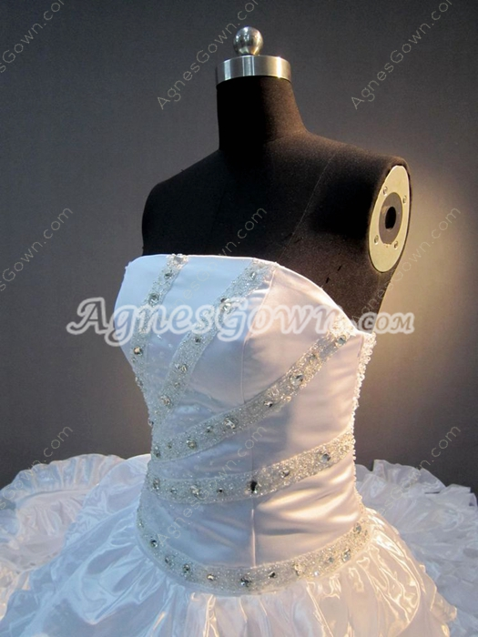 Luxurious Strapless Celebrity Wedding Dresses With Royal Train