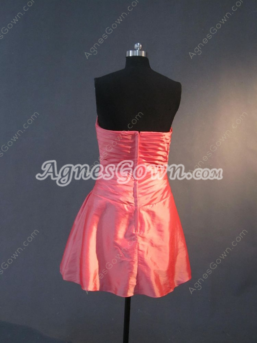 Watermelon Sweetheart Mini Cocktail Dresses For Juniors