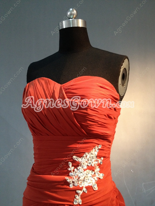 Classic Red Chiffon Sweetheart  Mother Of The Bride Dresses