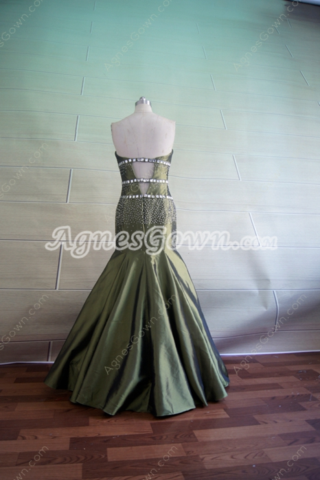 Fantastic Olive Green Trumpet Party Dresses for Graduation