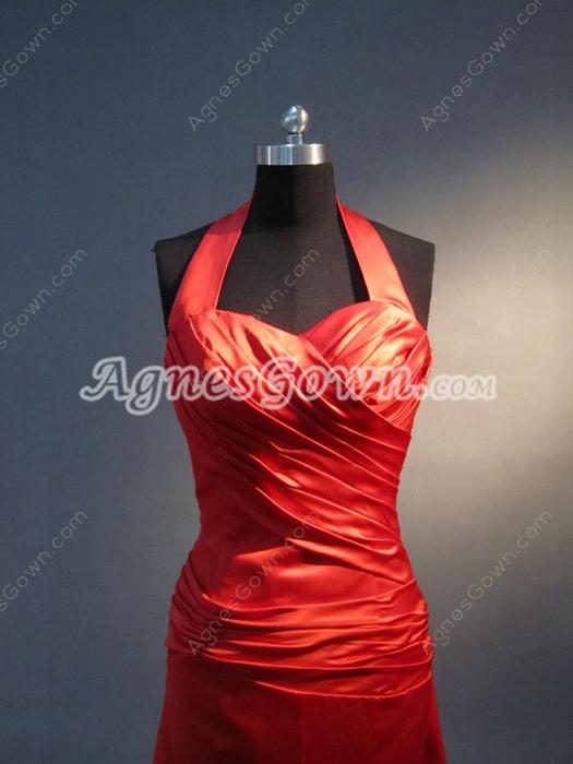 Best Halter Long Red Bridesmaid Dresses