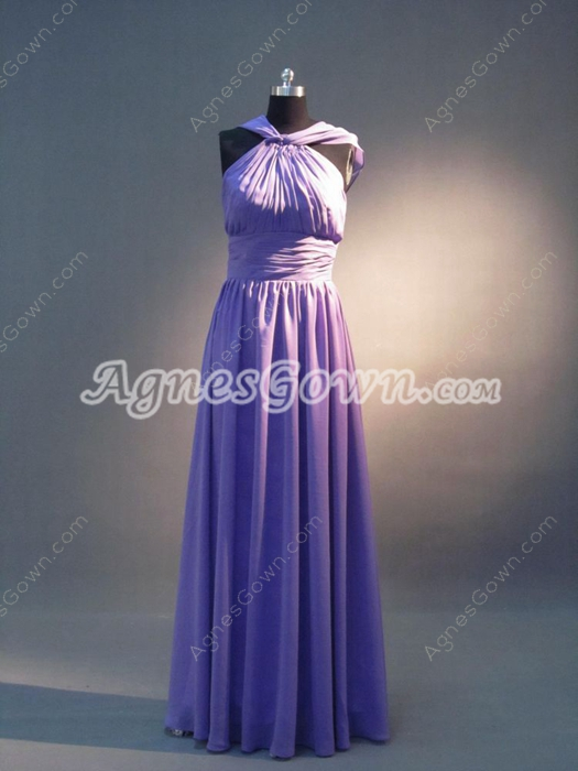Elegant Lavender Maxi Bridesmaid Dresses